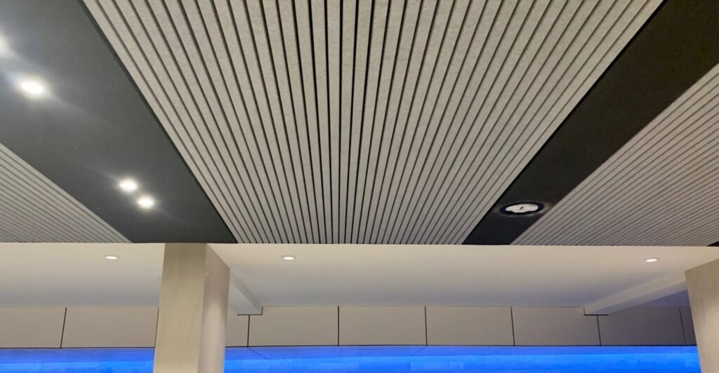 Heartfelt - Textile Linear Acoustic Ceiling by Hunter Douglas